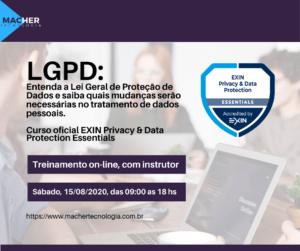 Curso LGPD 23 e 24/07/2020